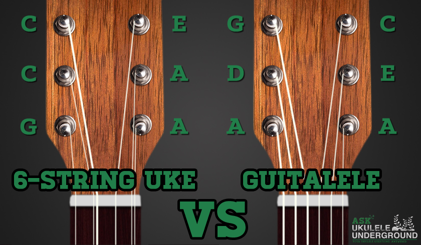 Guitar ukulele chords vs guitar chords : Ask Ukulele Underground: 6-String Ukulele vs. Guitalele