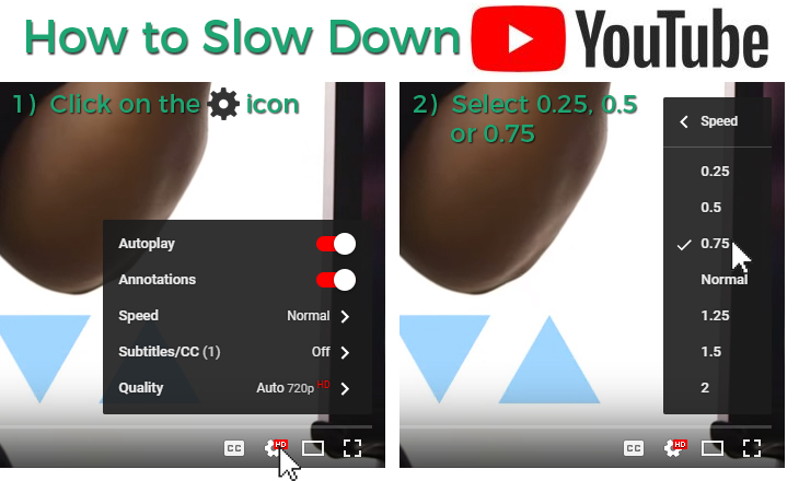 How to Slow Down YouTube