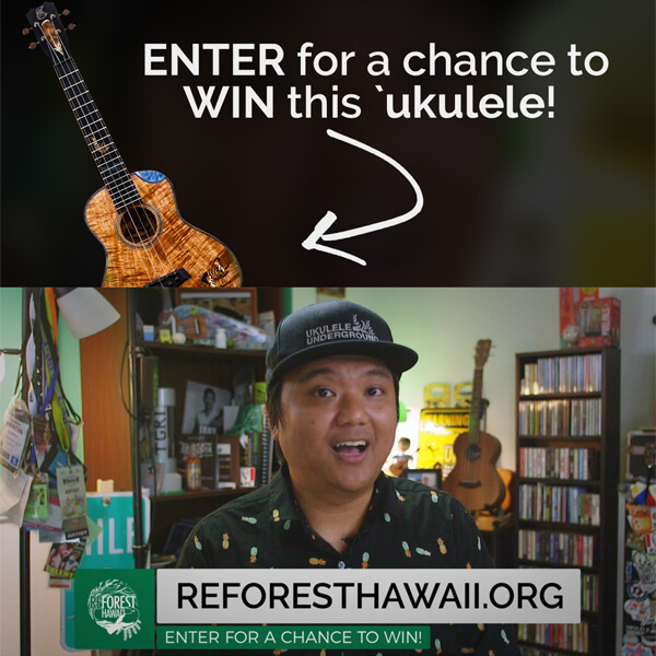Reforest Hawaii Enter for a Chance to win an Ukulele